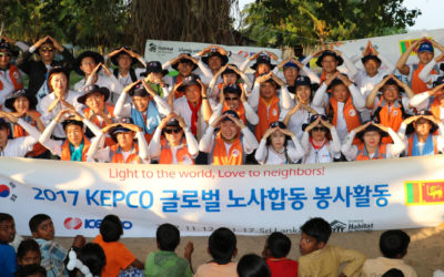 Corporate 'Global Village' volunteers from KEPCO Korea partner with Habitat for Humanity in Batticaloa